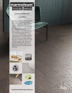 Marmoleum modular textura